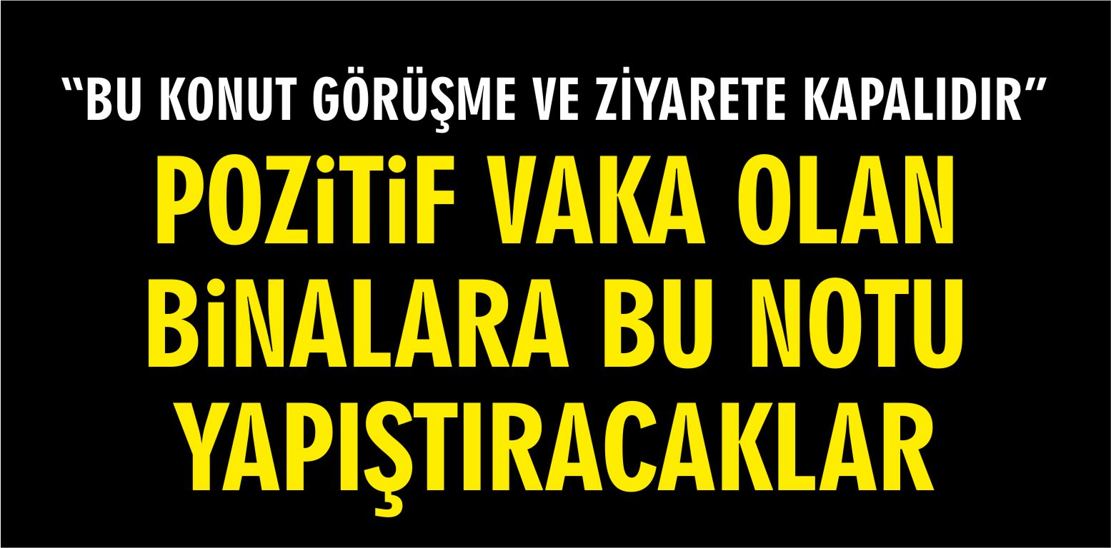 """""""BU KONUT GÖRÜŞME VE ZİYARETE KAPALIDIR"""""""