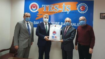 Mustafa Canbey BGC ve Tes-İş Sendikası'nı ziyaret etti