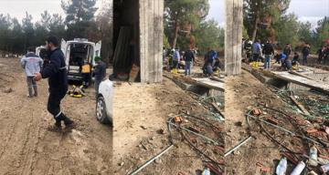 Su çektirmek için çukura inen 3 işçi zehirlenerek hayatını kaybetti!