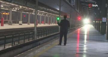 Türkiye'den Çin'e giden ilk ihracat treni Ankara Garı'nda