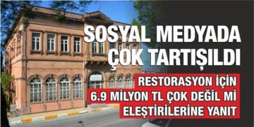 AYVALIK BELEDİYESİ'NDEN 'RESTORASYON' AÇIKLAMASI