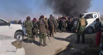 Deyrizor'da halk, YPG/PKK'yı protesto etti