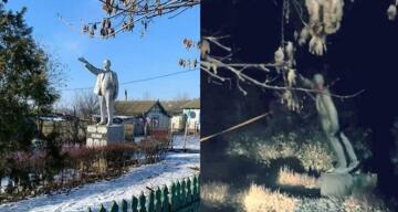 Ukrayna'daki son Lenin heykeli de yıkıldı