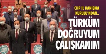 CHP İL DANIŞMA KURULU'NDA ANDIMIZ'I OKUDULAR