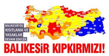 BALIKESİR YÜKSEK RİSKLİ İLLER LİSTESİNİN BAŞINDA!
