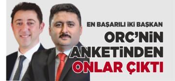 ORC'NİN BAŞARI ANKETİNDEN TOLGA TOSUN VE HASAN AVCI ÇIKTI