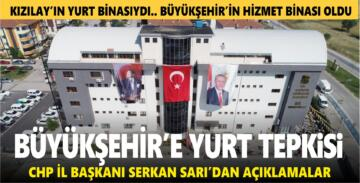 BÜYÜKŞEHİR'E YURT TEPKİSİ
