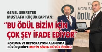 """""""BU ÖDÜL BİZİM İÇİN ÇOK ŞEY İFADE EDİYOR"""""""
