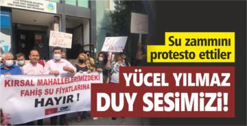 BASKİ'NİN FAHİŞ SU ZAMMINI PROTESTO ETTİLER