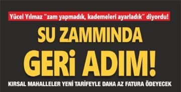 SU ZAMMINDA GERİ ADIM!