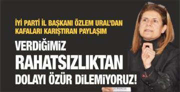 """""""VERDİĞİMİZ RAHATSIZLIKTAN DOLAYI ÖZÜR DİLEMİYORUZ!"""""""